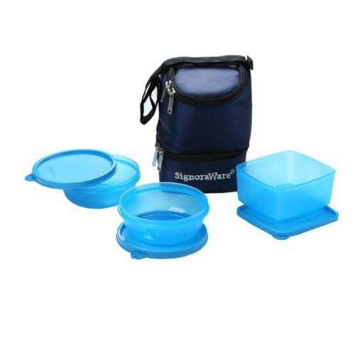 Signoraware Elegant Plastic Lunch Box with Bag