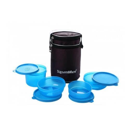 Signoraware Perfect Lunch Box (With Bag)