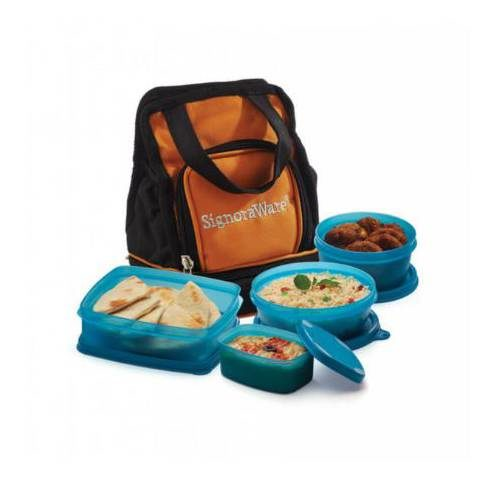 Signoraware Carry Lunch Box With Bag