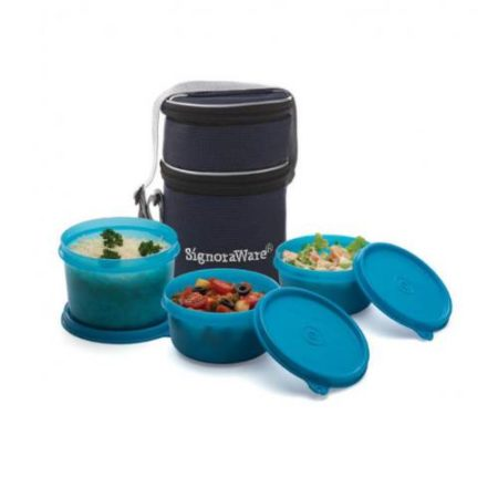 Signoraware Officer Lunch Box With Bag