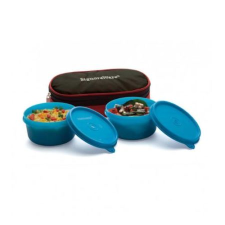 Signoraware Mid-Day Lunch Box With Bag