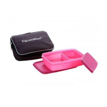 Signoraware Compact Kids Lunch Box (Small) With Bag
