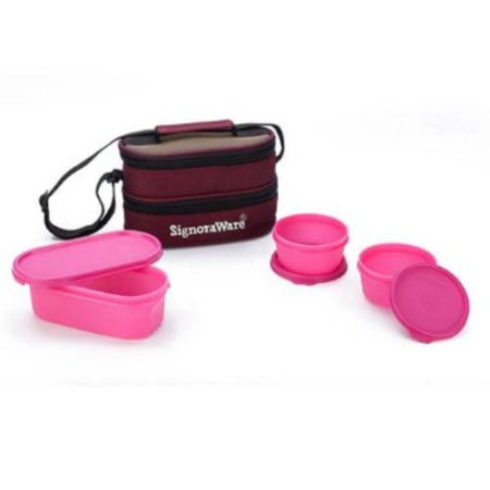 Signoraware Healthy Lunch Box with Bag