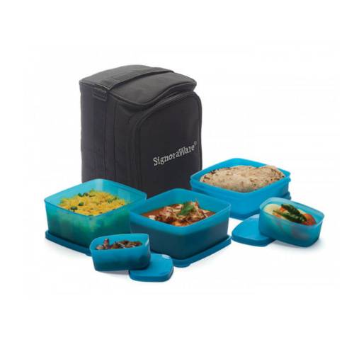 Signoraware Trendy Lunch Box (With Bag)