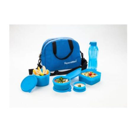 Signoraware Sling Lunch Box With Blue Bag