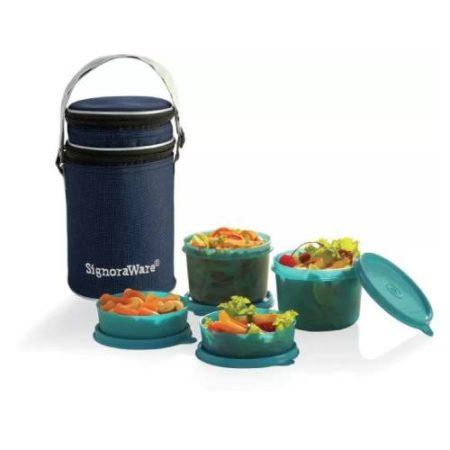 Signoraware Executive Plastic Lunch Box (4 Container)