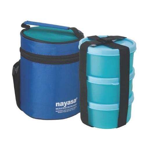 Nayasa Microfresh Bistro Handy Lunch Box - 3 Container