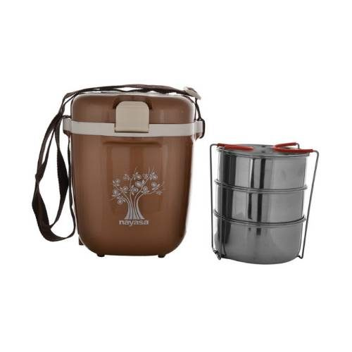 Nayasa Electromate Electric 3 Container Lunch Box