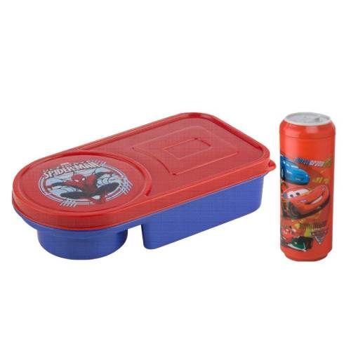 Nayasa Fantastic Fuzzy Kids Gobble Lunch Box Set with Can Bottle