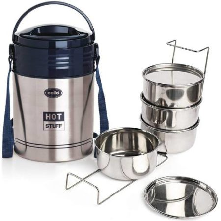 Cello Hot Stuff Stainless Steel Lunch Box