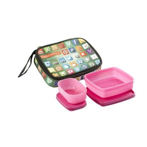 Signoraware Network Twin Smart Kids Lunch Box (with Bag)