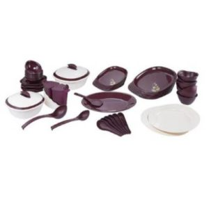Signoraware Blooming Plastic Dinner Set