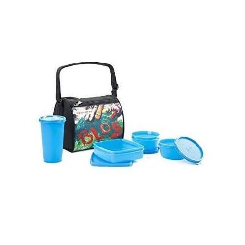 Signoraware Blog Plastic Lunch Box ( 4 Container)