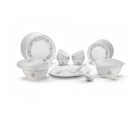 Signoraware Circle Scapes Plastic Dinner Set 21 Pieces