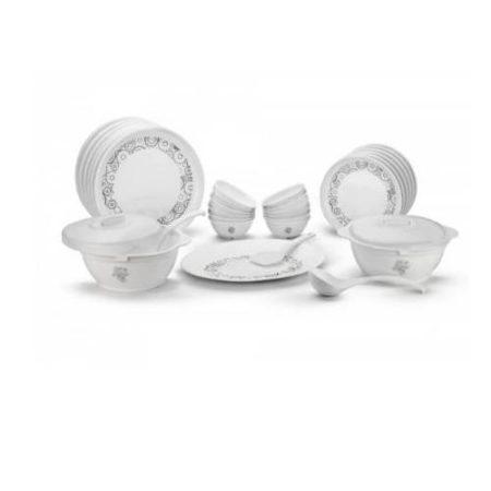 Signoraware Circle Scapes Plastic Dinner Set 21 Pieces