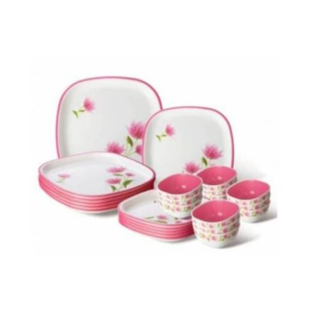 Nayasa Printed Square Deluxe Dinner Set - 24 Pcs.