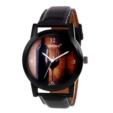customized-and-personlise-DCH-wrist-watches-gifts-items-black-leather-stripe-watch-angel-gifts