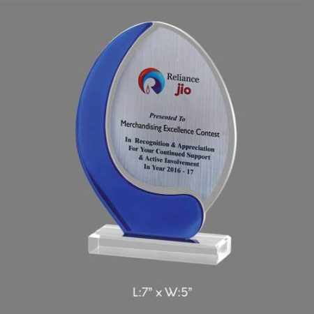 "Angel Acrylic Trophy / Memento - L 7"" x W 5"""