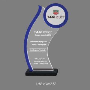 "Angel Acrylic Trophy / Memento - L 8"" x W 2.5"""