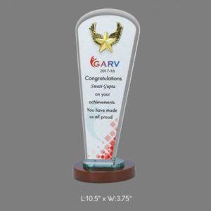 "Angel Acrylic Trophy / Memento - L 10.5 x W 3.75"""