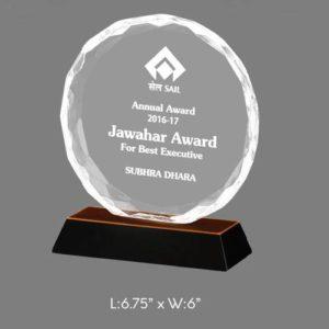 "Angel Acrylic Trophy / Memento - L 6.75"" x W 6"""