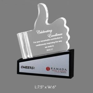 "Angel Acrylic Trophy / Memento - L 7.5"" x W 6"""