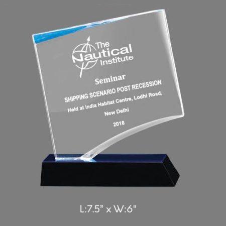 "Angel Acrylic Trophy / Memento - L 7.75"" x W 6"""