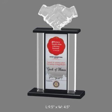 "Angel Acrylic Trophy / Memento - L 9.5"" x W 4.5"""