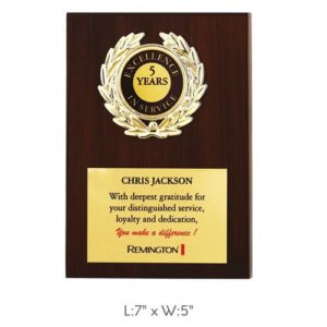 "Angel Wooden and Metal Trophy / Memento - L 7"" x W 5"""
