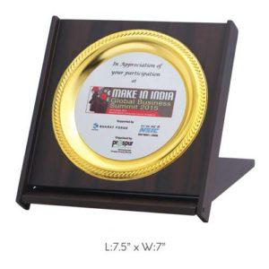 """Angel Wooden & Metal Trophy / Memento - L 7.5"""" x W 7"""""""