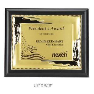 "Angel Wooden and Metal Trophy / Memento - L 9"" x W 11"""