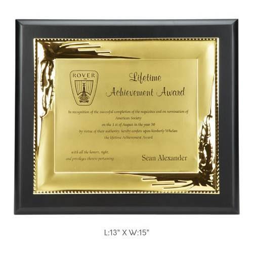 "Angel Wooden and Metal Trophy / Memento - L 13"" x W 15"""