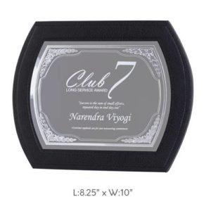 "Angel Wooden and Metal Trophy / Memento - L 8.25"" x W 10"""