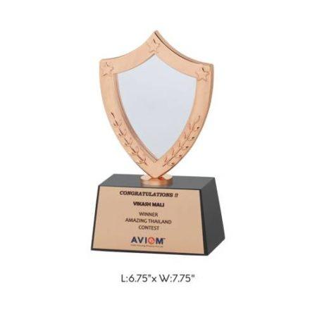 """Angel Wooden & Metal Trophy / Memento - L 6.75"""" x W 7.75"""""""