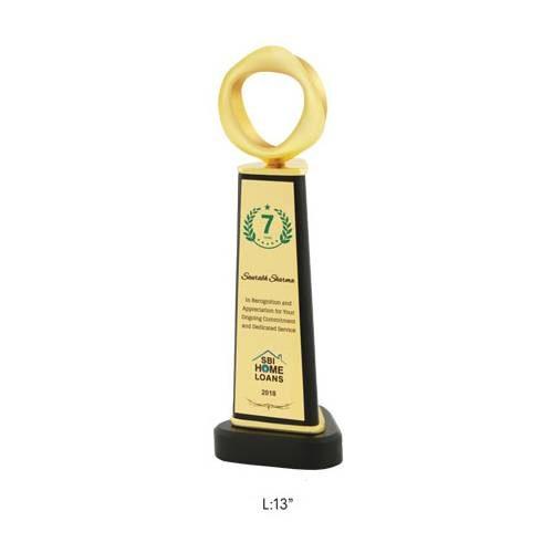 "Angel Wooden and Metal Trophy / Memento - L 13"""