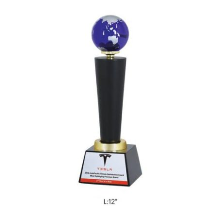 Angel Wooden and Metal Trophy / Memento - L 12""