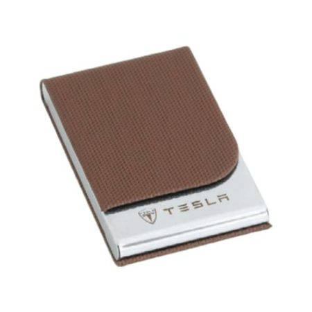 Visiting Card Holder Brown Leather