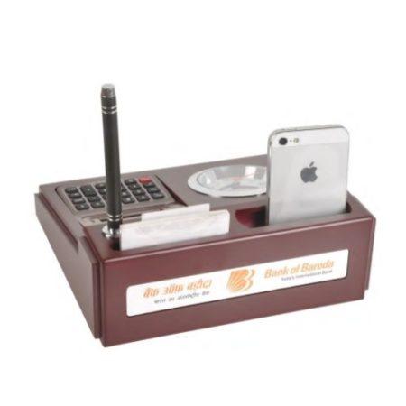 Desktop Organizer with Watch & Calculator - 35