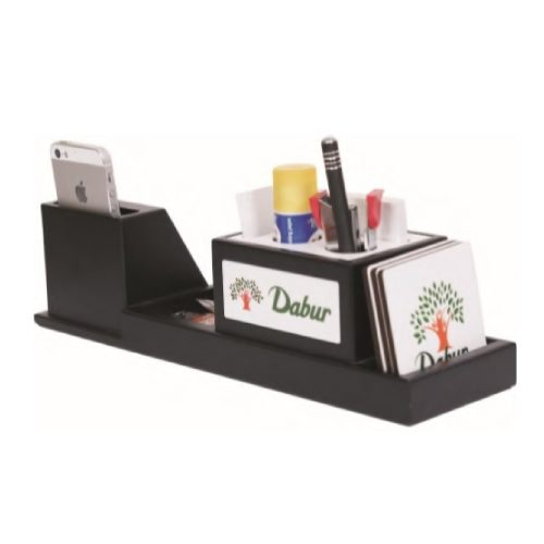 Desktop Organizer with Watch & Mobile Stand - 29