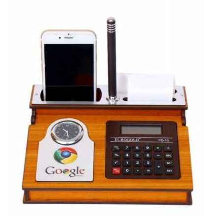 Desktop Organizer Watch & Calculator