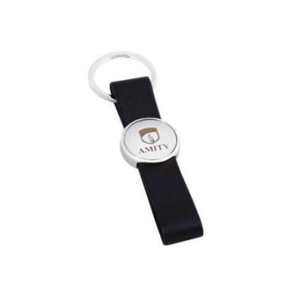 Classic Leather Metal Key Chain - 7180