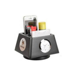 Revolving Desktop Organizer with Watch - 44