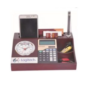 Desktop Organizer/ Office Table Top With Mobile Stand, Calculator, Diary & Memo Pad