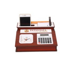 Desktop Organizer/ Table Top With Watch & Calculator