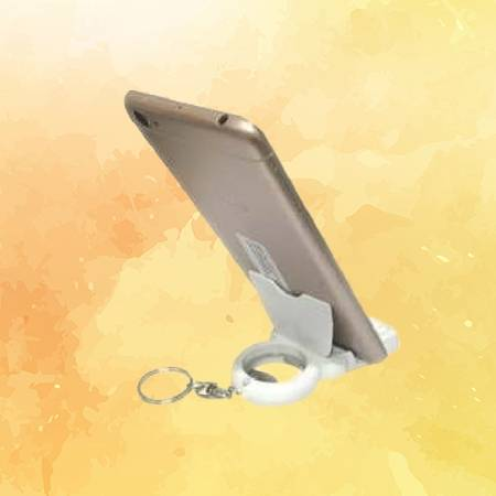 Multipurpose Key Chain - Bottle Opener, Mobile Stand & Screen Cleaner