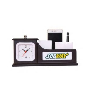 Desktop Organizer/ Office Table Top With Watch