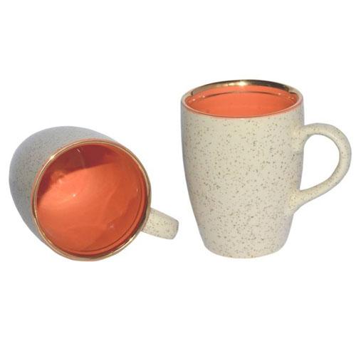 Ceramic Printable Golden Line Coffee Mugs - M15