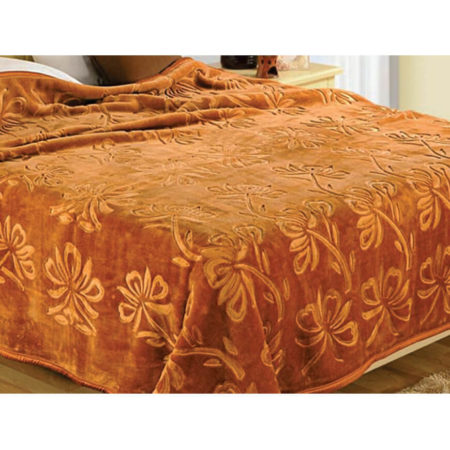 Vardhman Urban Style Engraved Double Bed Plain Blanket