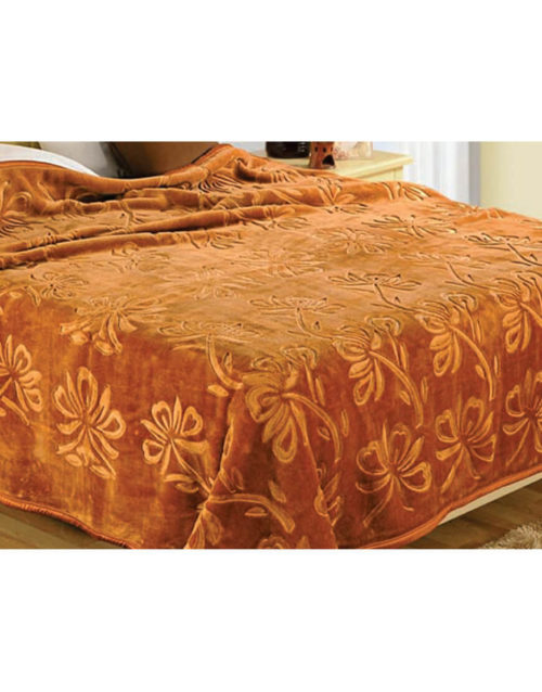 Vardhman Urban Style Engraved Double Bed Plain Blanket