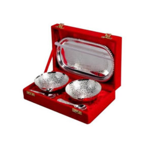 Silver Plated Round Designer Bowl Set